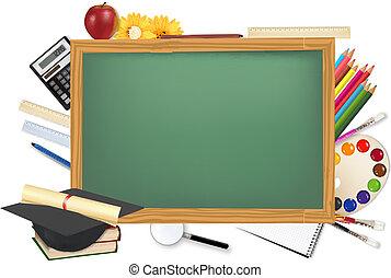 שולחן, הספקות, בית ספר, ירוק