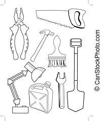 שונה, קבע, כלים