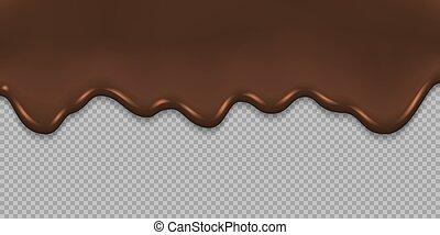 שוקולד, המס, רקע, לטפטף