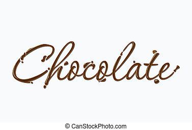 שוקולד, טקסט
