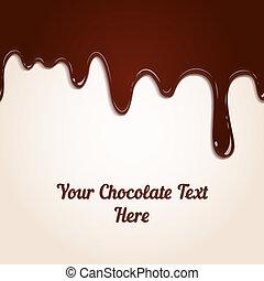 שוקולד, לטפטף