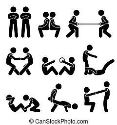 שותף, אימון, התאמן