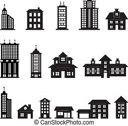 שחור, בנין, 3, קבע, לבן