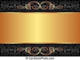 שחור, זהב, רקע