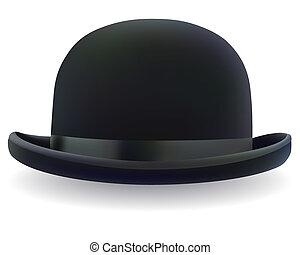 שחור, כובע של קערות