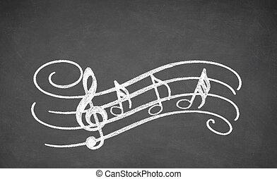 שחור, מוסיקלי, עלה