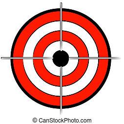 שחור, מרכז מטרה, כוון, לבן אדום