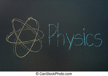 שחור, פיסיקה, גיר, לבן, לוח לגיר, כתוב