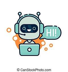 שחח, bot, שלום, חמוד, אמר, לחייך, רובוט