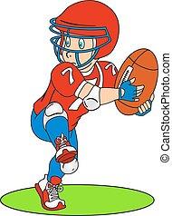 שחקן, כדורגל אמריקאי
