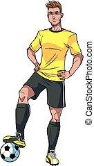 שחקן, כדורגל, דוגמה