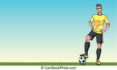 שחקן, כדורגל, רקע