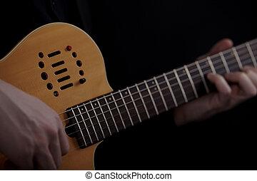 שחקן של גיטרה, שחור