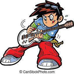 שחקן של גיטרה, anime, מאנגה