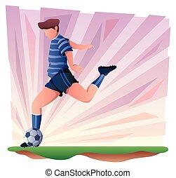 שחקן של כדורגל, סמל