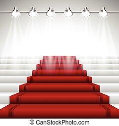 שטיח, מנורות ממוקדת, אדום, מתחת