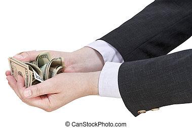 שטרות בנק, איש עסקים, דולרים, מלוא יד, לגוז