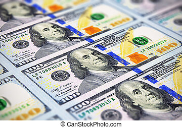 שטרות בנק, חדש, 100, דולר, אותנו