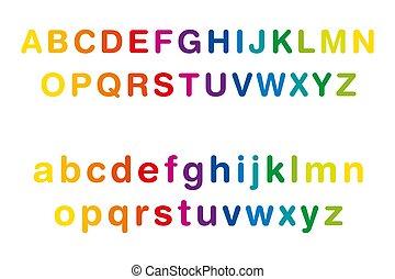 שיט, מקרה, אלפבית, צבע, קשת, יותר נמוך, עליון