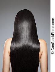 שיער, ישר, ארוך