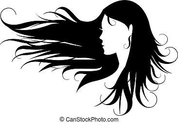 שיער, שחור