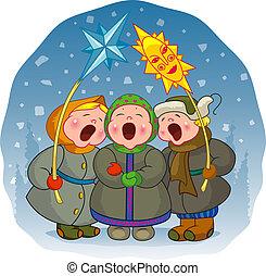 שיר, ילדים, חג המולד, שיר