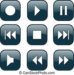 שלוט, כפתורים, audio-video