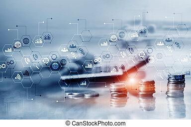 שלוט, להחליף, marketing., אחסן, מושג, ממן, כפיל, עסק, חשיפה, לוח, אסטרטגיה