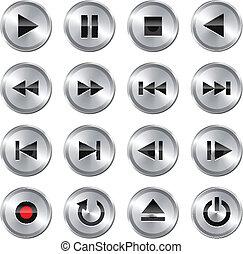 שלוט, מולטימדיה, קבע, icon/button