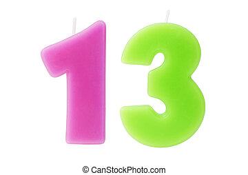 שלושה עשר, יום הולדת, הפרד, נרות