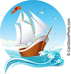 שלח, להפליג