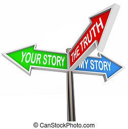 שלי, סיפורים, שלך, אמת, בין