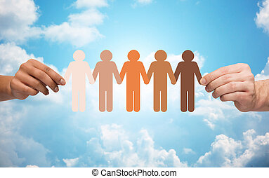 שלשל, אנשים, מעל, פיכטוגראם, שמיים, להחזיק ידיים