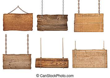 שלשל, מעץ, חתום, חבל, רקע, לתלות, מסר