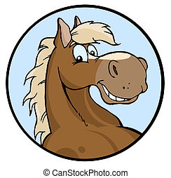 שמח, דוגמה, סוס