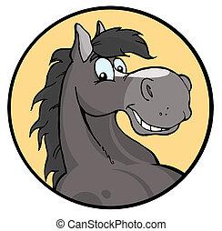 שמח, ציור היתולי, סוס