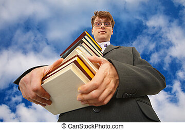 שמיים גדולים, נגד, ספרים, לגוז, איש