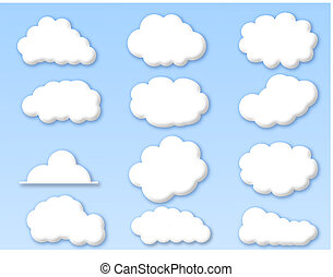 שמיים כחולים, עננים, מעונן