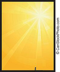 שמש, חסר סימטריה, התפוצץ, אור, צהוב, תפוז