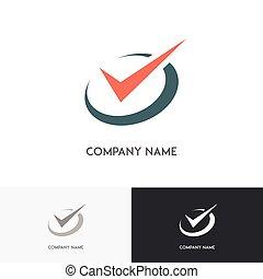 שעון, checkmark, לוגו