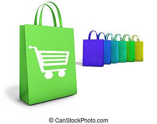 שקיות, קניות אונליין, מסחר אלקטרוני