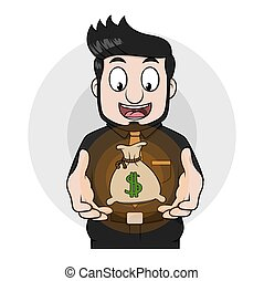 שקים, כסף, איש של עסק