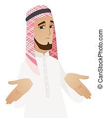 שראגגינג, איש עסקים, מוסלמי, כתפיים., בלבל