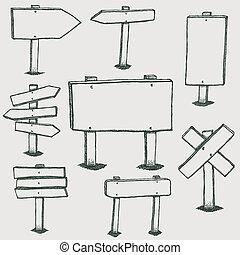שרבט, כיוון, עץ, חיצים, סימנים