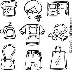 שרבט, נשים, קבע, בגדים