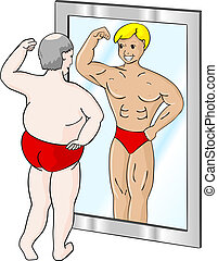 שריר, איש שמן