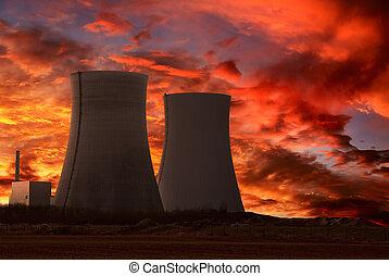 שתול, הנע, גרעיני, שמיים, אינטנסיבי, אדום