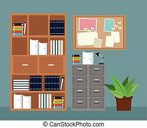 שתול, משרד, ראה, קבינט, עלה, תייק, פוטאד, רהיטים