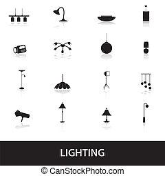 תאורה, eps10, איקונים