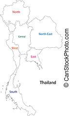 תאילנד, תאר, מפה